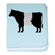 Cow Icon (XL) baby blanket