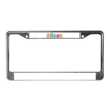 Alison License Plate Frame