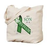 My Son is a Survivor (green).png Tote Bag