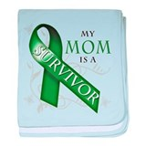 My Mom is a Survivor (green).png baby blanket