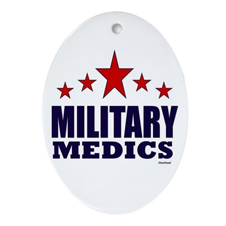 Military Medics Ornament (Oval)