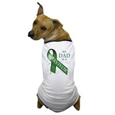 My Dad is a Survivor (green).png Dog T-Shirt