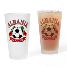 Albania Soccer Designs Drinking Glass