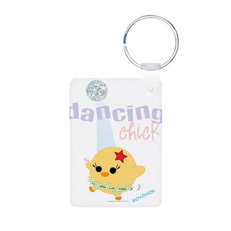 2-dancingck.png Aluminum Photo Keychain