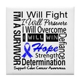 Colon Cancer Persevere Tile Coaster
