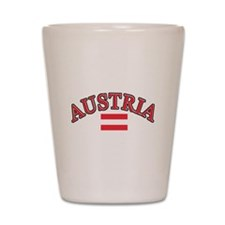 Austria Soccer Designs Shot Glass