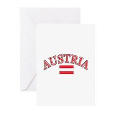 Austria Soccer Designs Greeting Cards (Pk of 20)