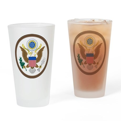 USA Seal Drinking Glass
