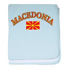 Macedonia Soccer Designs baby blanket