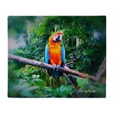 Martinique Macaw Throw Blanket