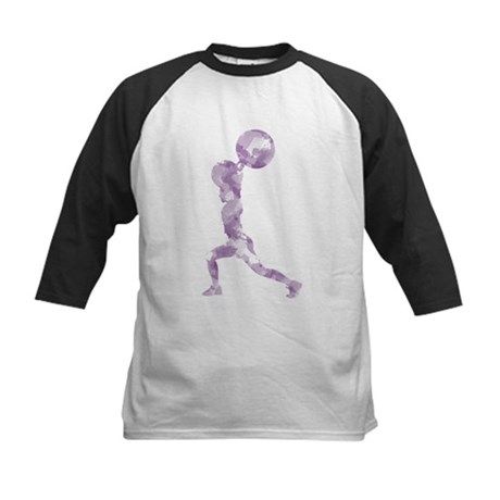 Watercolor Lift in Purple Kids Baseball Jersey