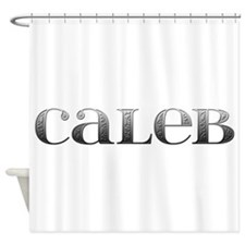 Caleb Carved Metal Shower Curtain