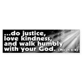Micah 6:8 Bumper Bumper Sticker