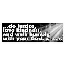 Micah 6:8 Bumper Bumper Sticker