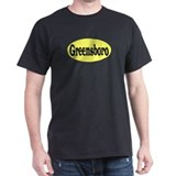 Greensboro, North Carolina Black T-Shirt