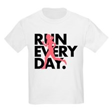 Pink/Black Run Every Day T-Shirt