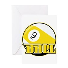 9 Ball Greeting Card