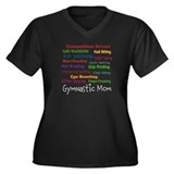 gymnastic mom Women's Plus Size V-Neck Dark T-Shir
