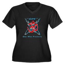 Yoga Om Women's Plus Size V-Neck Dark T-Shirt