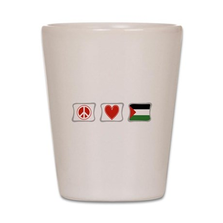 Peace, Love and Palestine Shot Glass