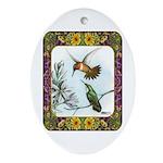 Rufous Hummingbirds Ornament (Oval)