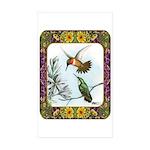 Rufous Hummingbirds Sticker (Rectangle 50 pk)