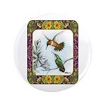 "Rufous Hummingbirds 3.5"" Button (100 pack)"