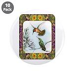 "Rufous Hummingbirds 3.5"" Button (10 pack)"
