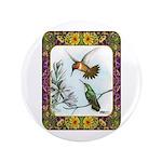 "Rufous Hummingbirds 3.5"" Button"