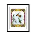 Rufous Hummingbirds Framed Panel Print