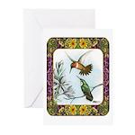 Rufous Hummingbirds Greeting Cards (Pk of 10)