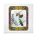Rufous Hummingbirds Queen Duvet