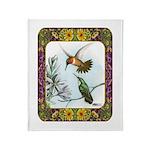 Rufous Hummingbirds Throw Blanket