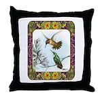 Rufous Hummingbirds Throw Pillow