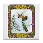 Rufous Hummingbirds Tile Coaster