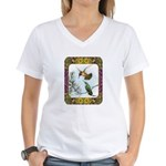 Rufous Hummingbirds Women's V-Neck T-Shirt