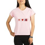 Peace, Love and Norway Performance Dry T-Shirt