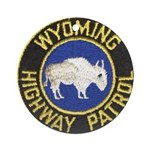 Wyoming Highway Patrol Ornament (Round)