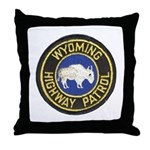 Wyoming Highway Patrol Throw Pillow