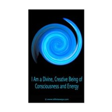 Consciousness and Energy 1 Rectangle Decal