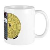 Small Mugs with Slide Rule Calculator ISRM Logo