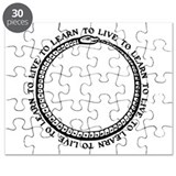 Learn To Live White Shirt Puzzle