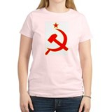 Hammer and Sickle Women's Pink T-Shirt