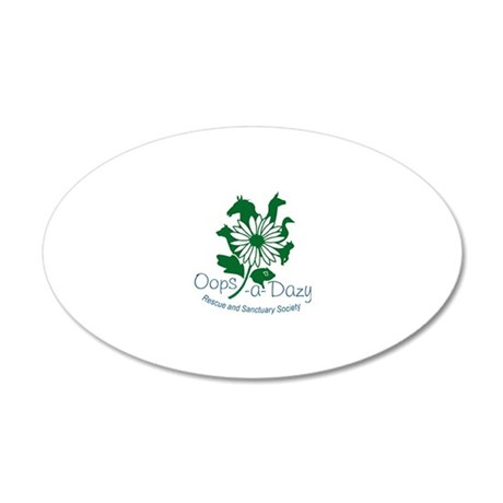 colour logo 35x21 Oval Wall Decal