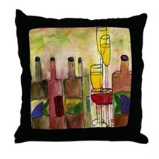 Tuscany Wine Throw Pillow