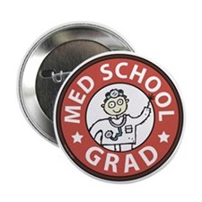 "Med School Grad (Male) 2.25"" Button (10 pack)"