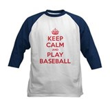 Keep Calm Play Baseball Tee