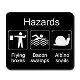 Geocaching Hazards Mousepad