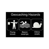 Geocaching Hazards Rectangle Magnet (10 pack)