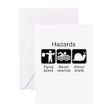 Geocaching Hazards Greeting Card